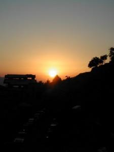 ブシャーレの夕陽